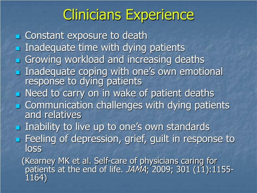 Clinicians Experience