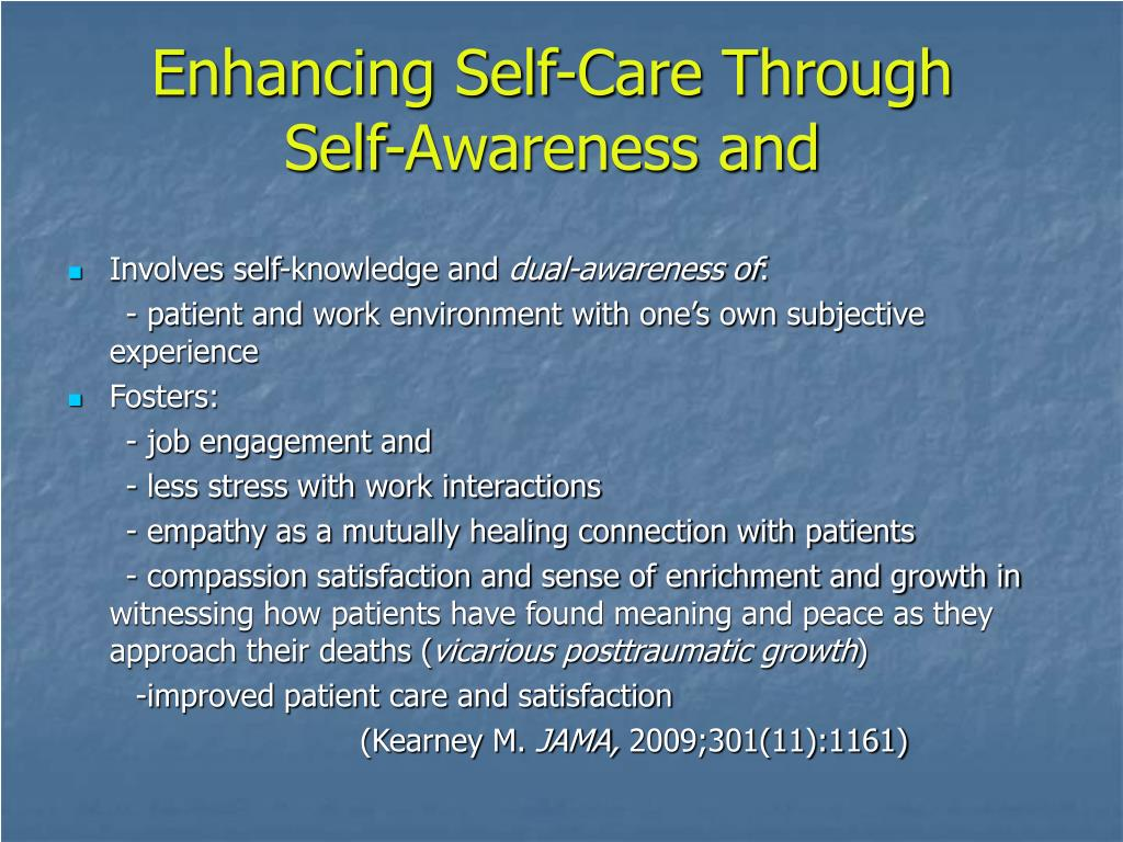 Enhancing Self-Care Through