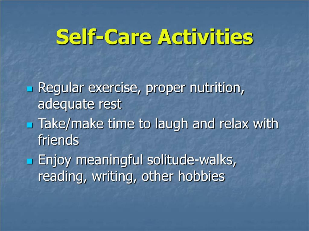 Self-Care Activities