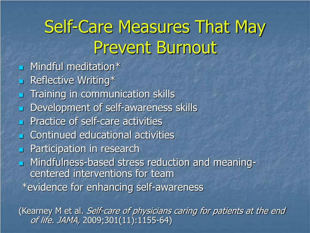 Self-Care Measures That May Prevent Burnout