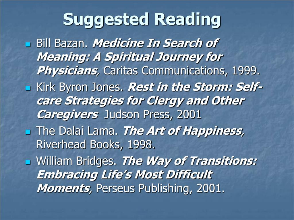 Suggested Reading