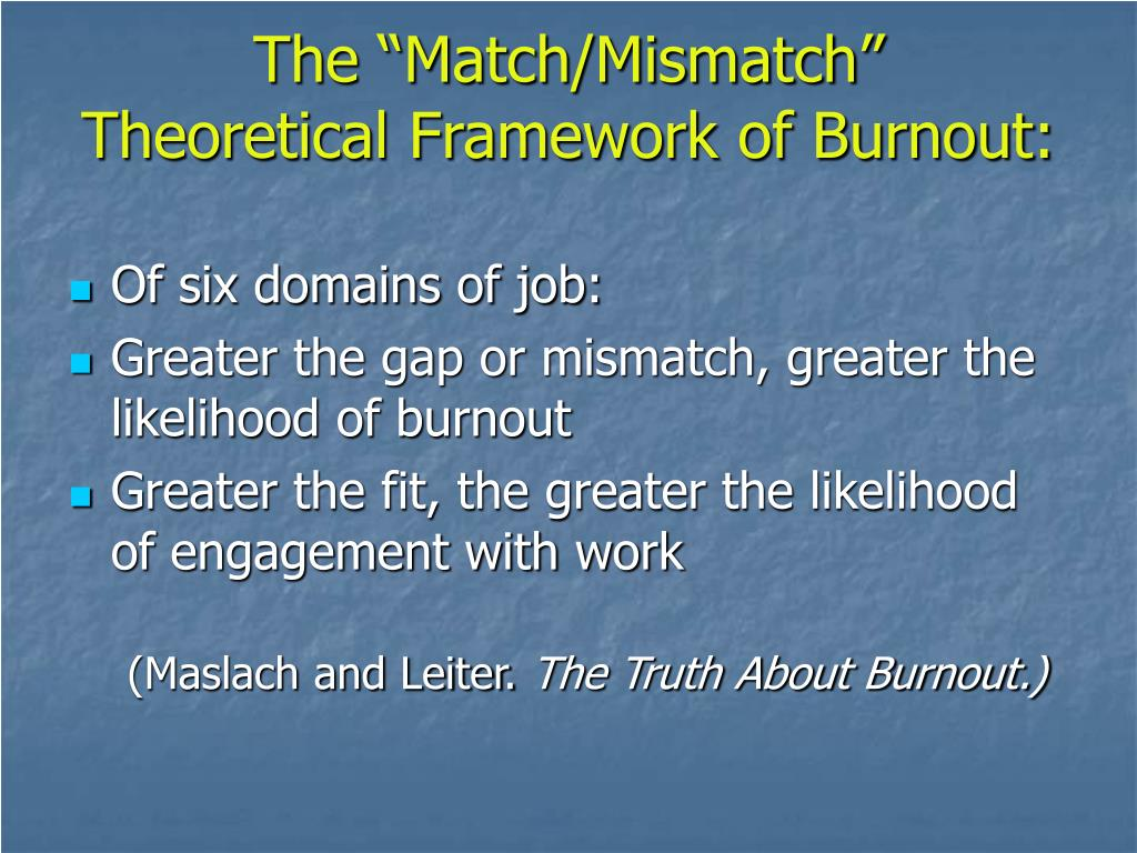 "The ""Match/Mismatch"""