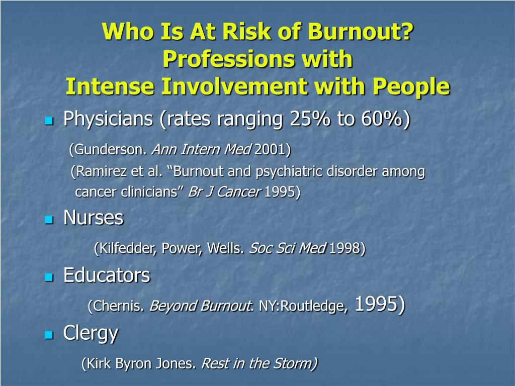 Who Is At Risk of Burnout?