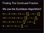 finding the continued fraction23