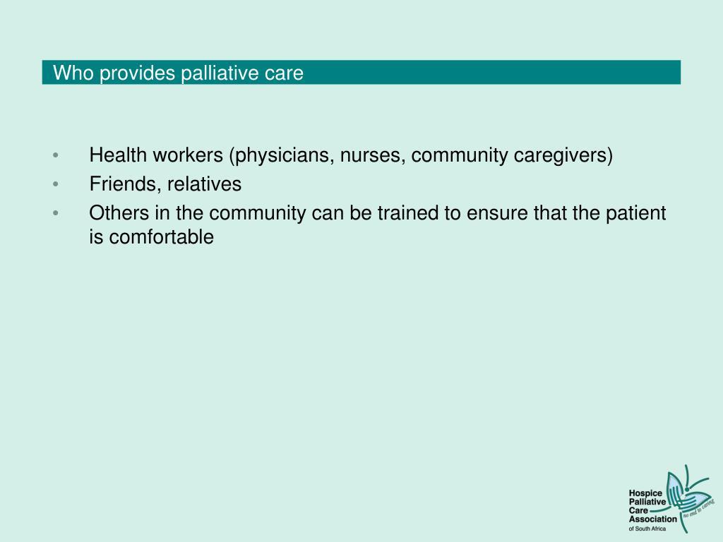 Who provides palliative care