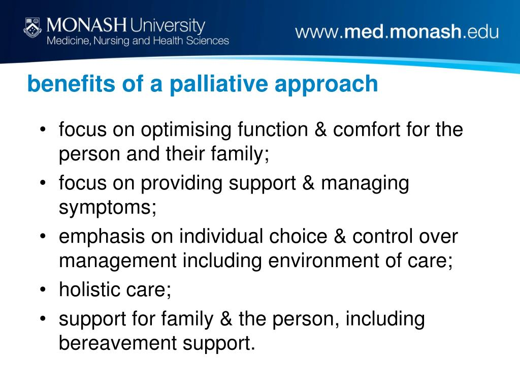 benefits of a palliative approach