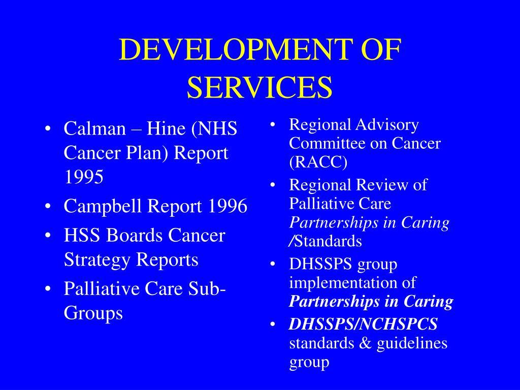 Calman – Hine (NHS Cancer Plan) Report 1995