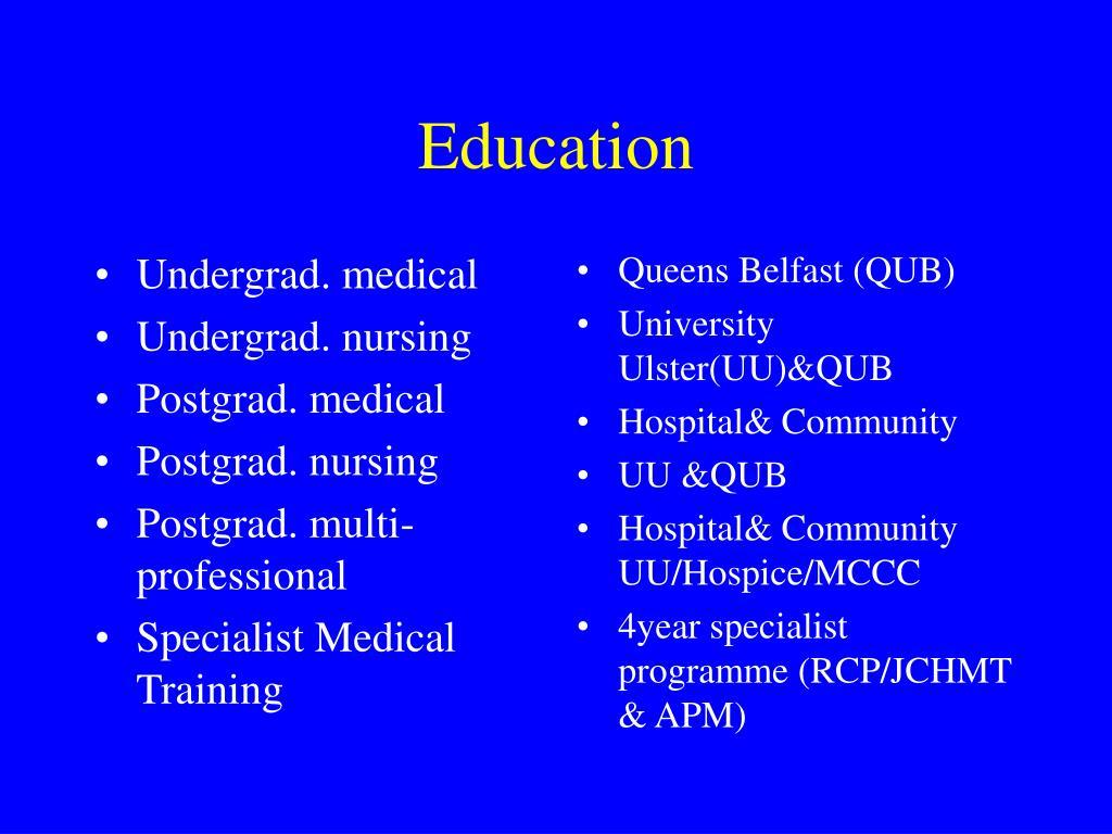 Undergrad. medical