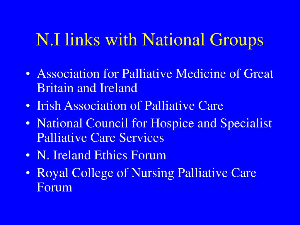 N.I links with National Groups