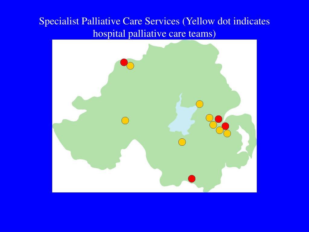 Specialist Palliative Care Services (Yellow dot indicates hospital palliative care teams)