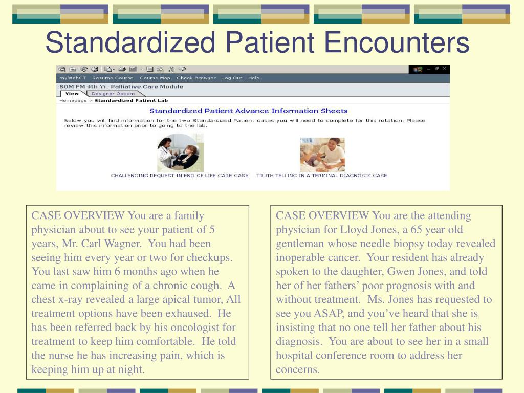 Standardized Patient Encounters