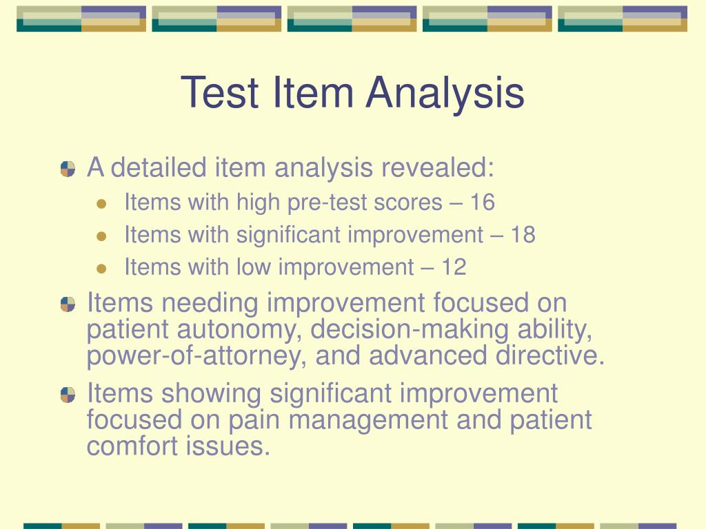 Test Item Analysis
