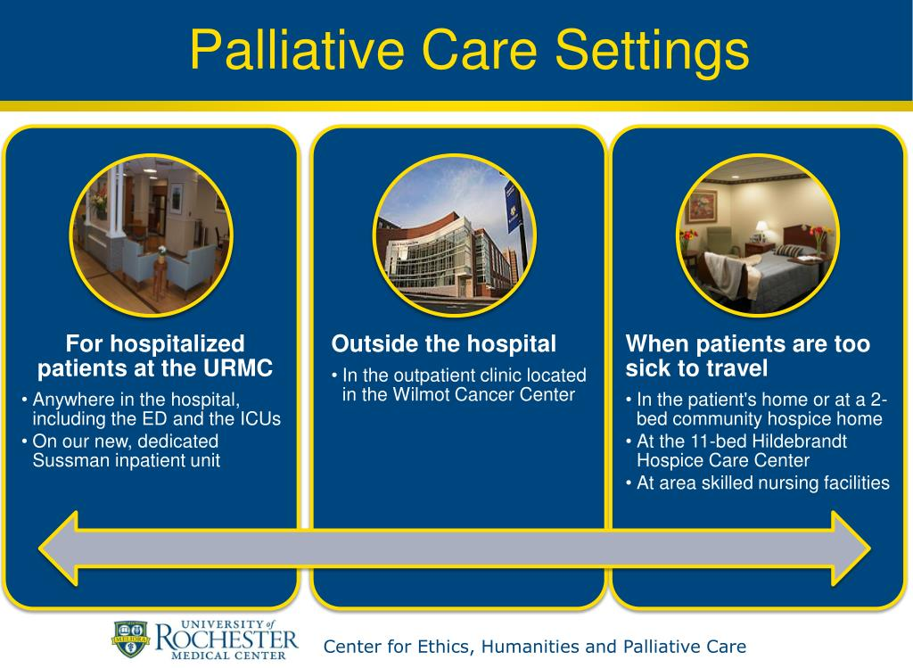 Palliative Care Settings