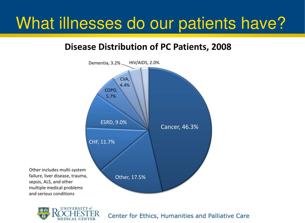 What illnesses do our patients have?