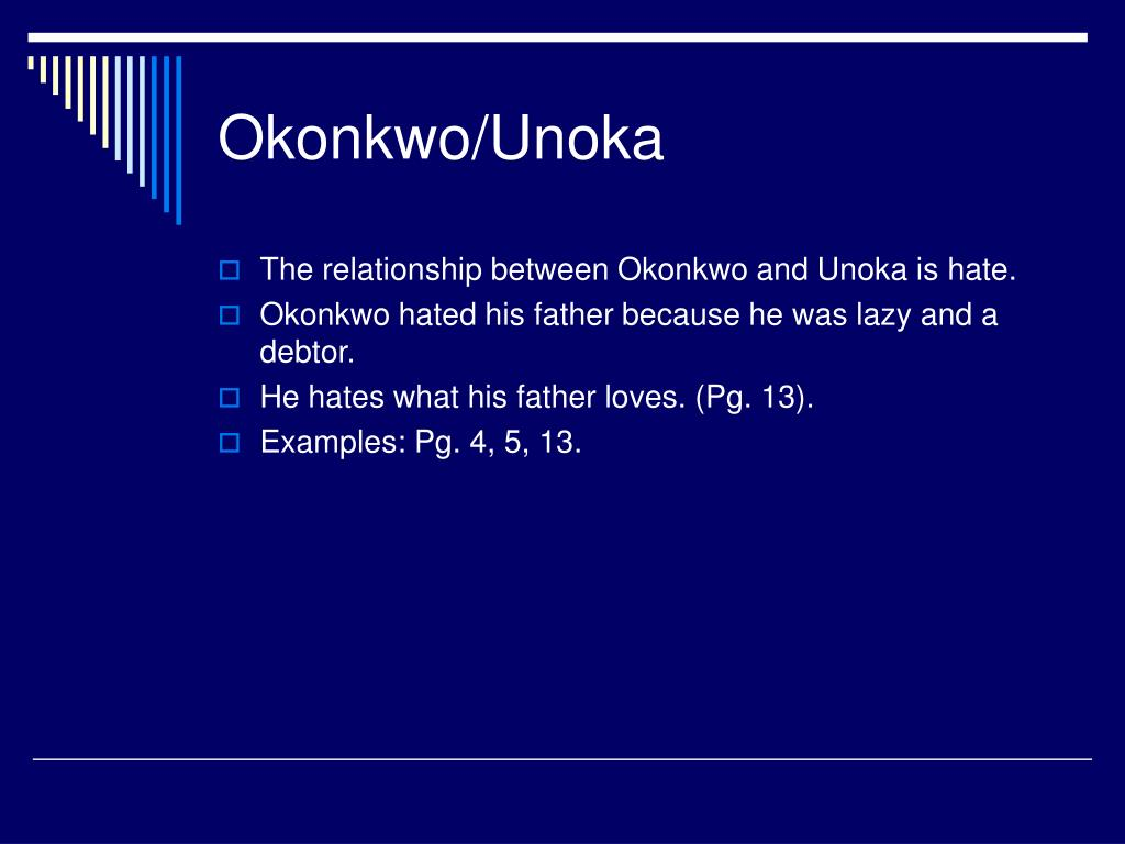 okonkwo and unoka relationship tips