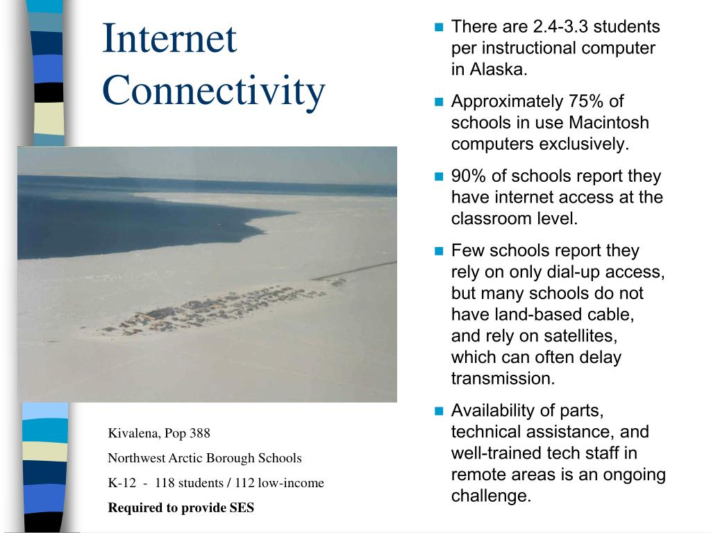 There are 2.4-3.3 students per instructional computer in Alaska.