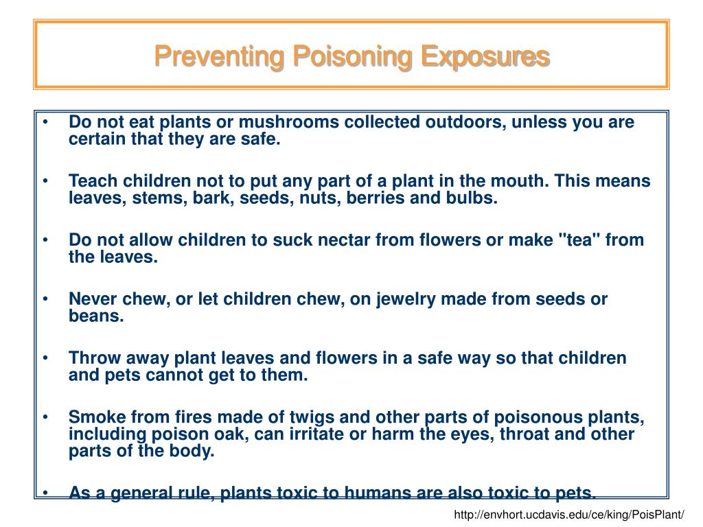 Preventing Poisoning Exposures