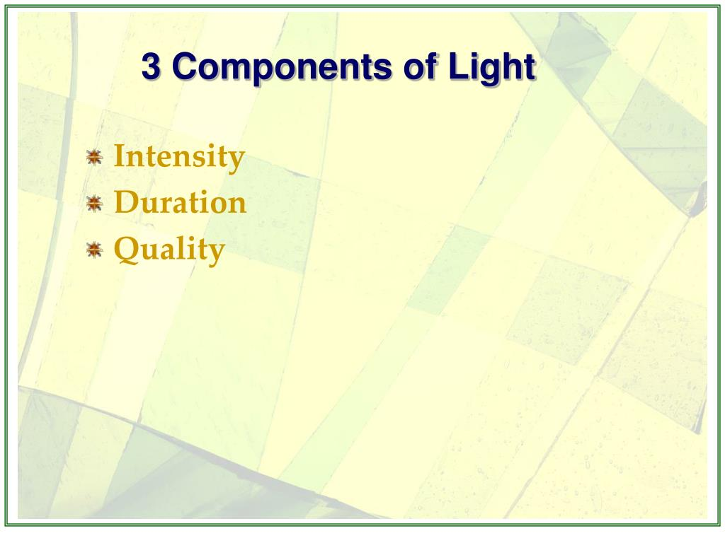 3 Components of Light
