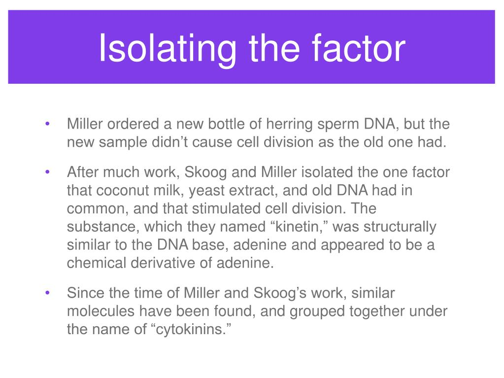 Isolating the factor