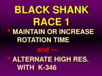 black shank race 1