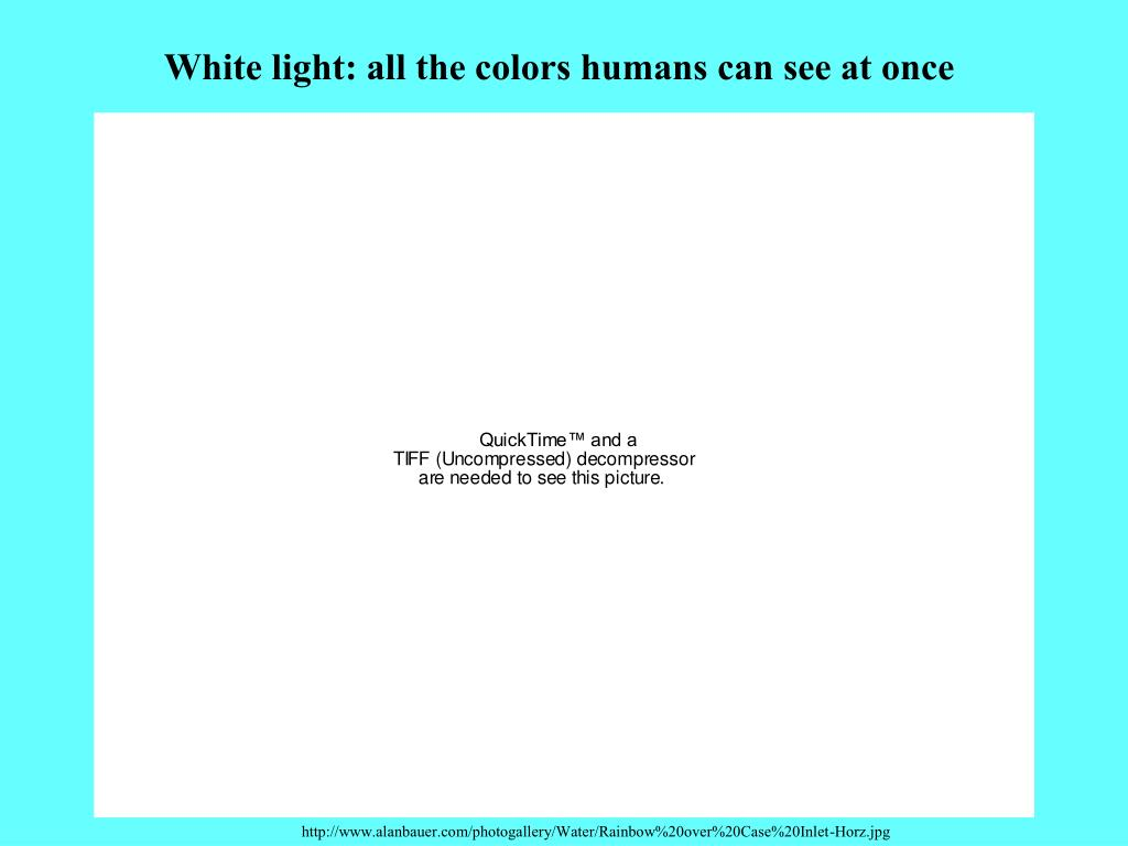 White light: all the colors humans can see at once