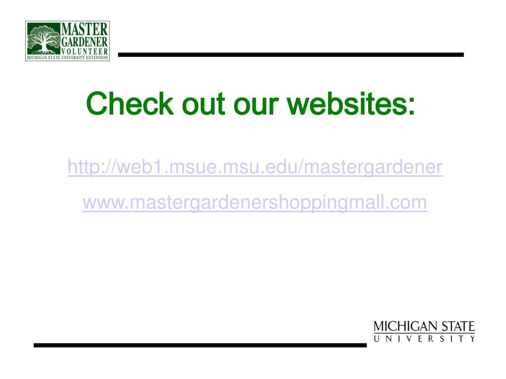 Check out our websites: