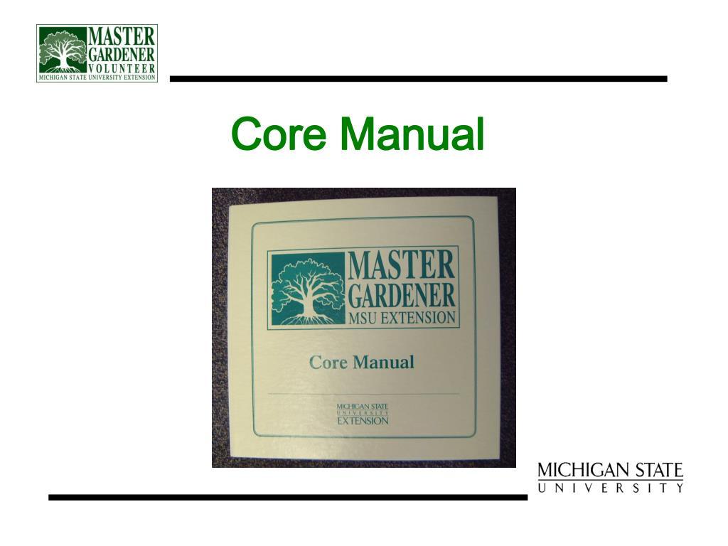 Core Manual