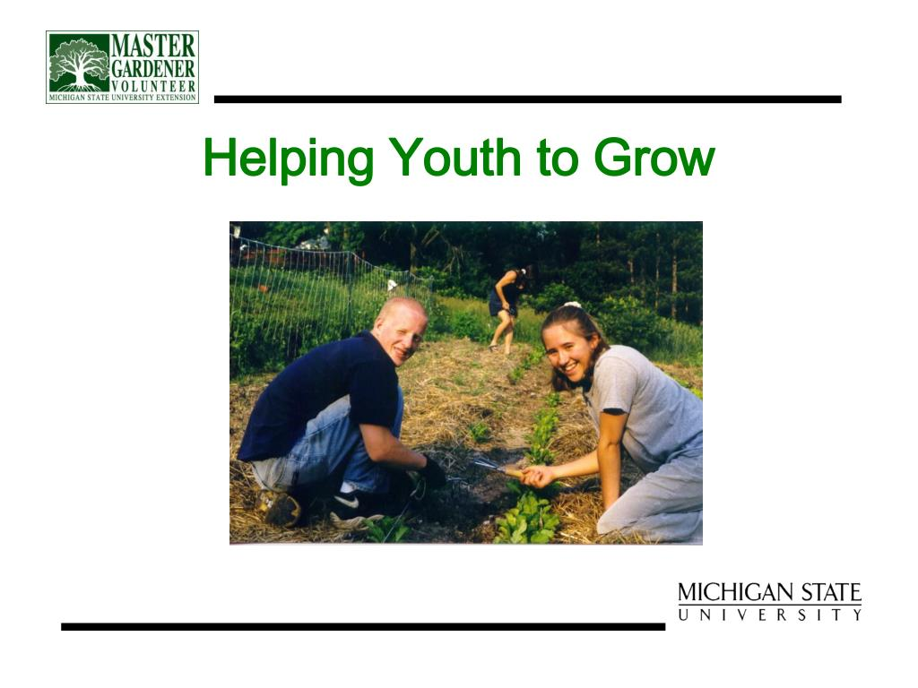 Helping Youth to Grow