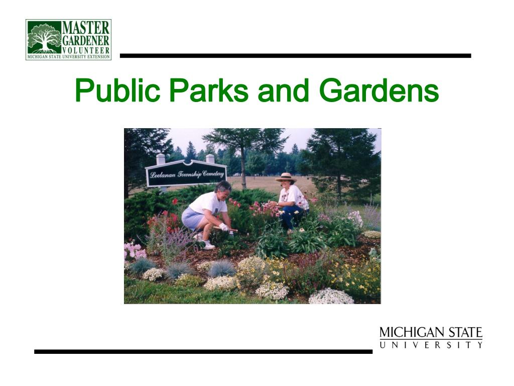Public Parks and Gardens