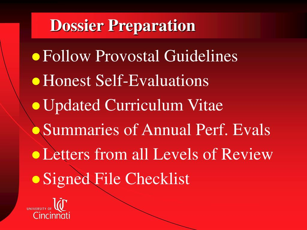 Dossier Preparation