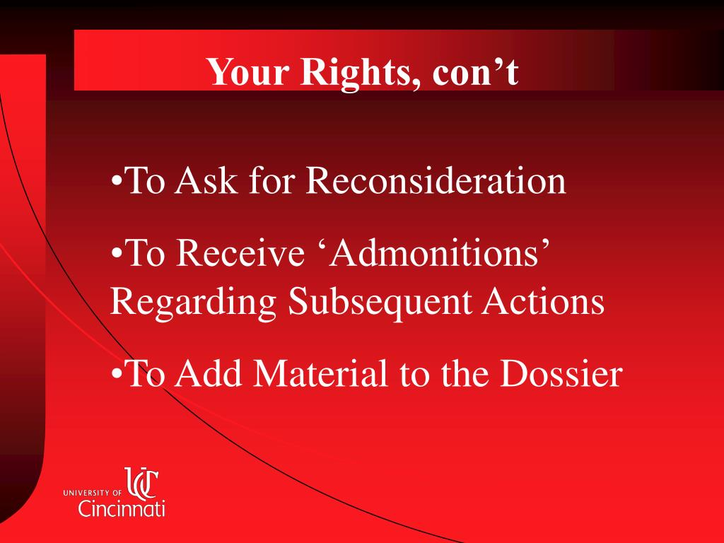 Your Rights, con't