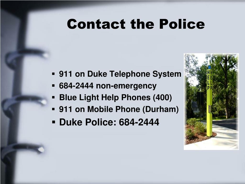 Contact the Police