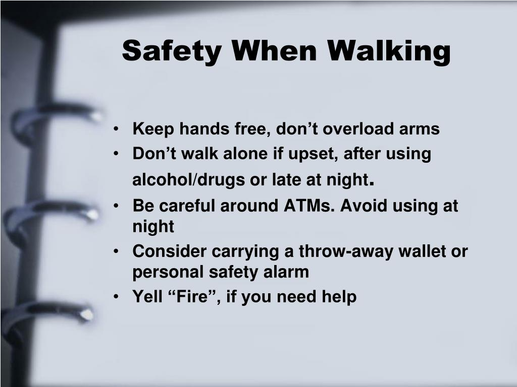 Safety When Walking