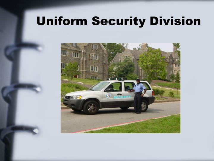 Uniform security division l.jpg