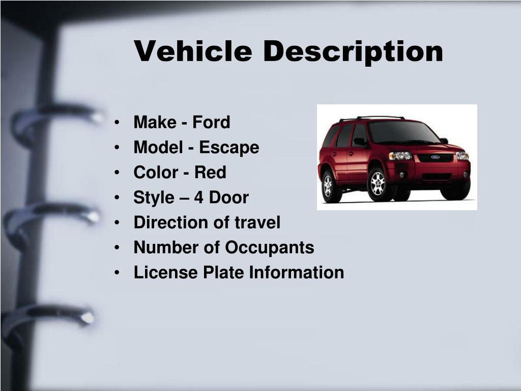 Vehicle Description