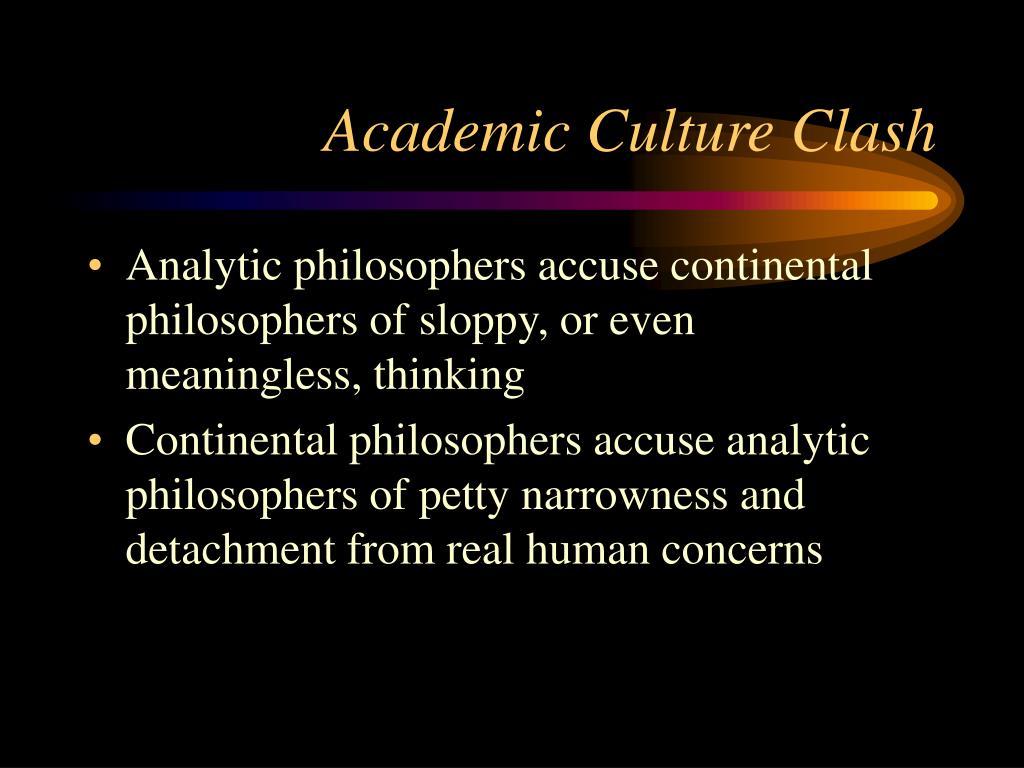 Academic Culture Clash