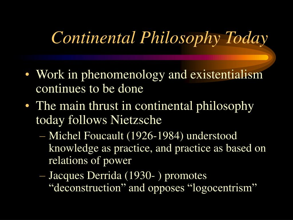 Continental Philosophy Today
