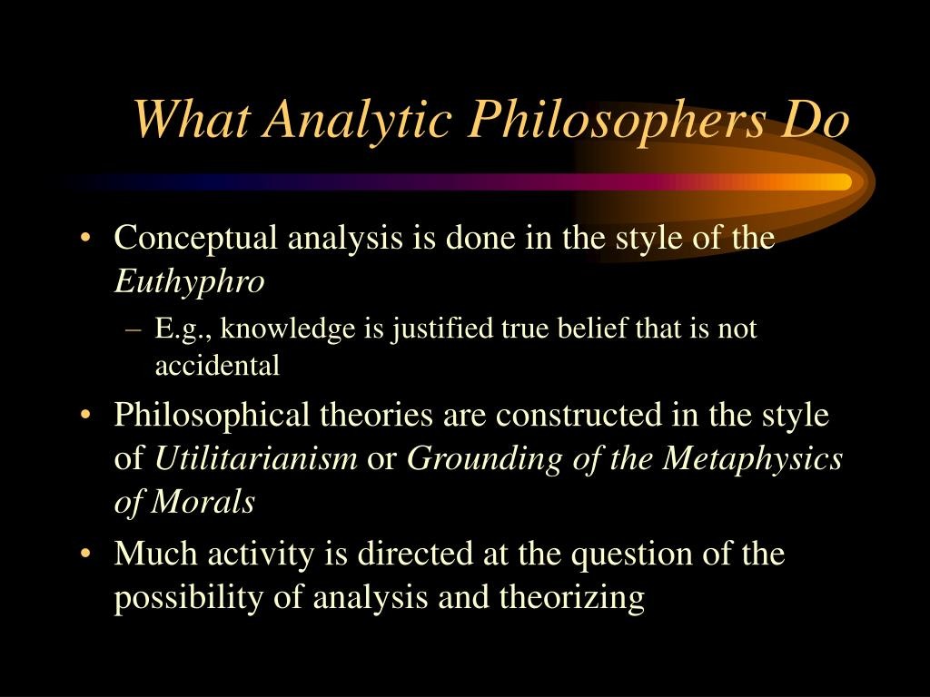What Analytic Philosophers Do