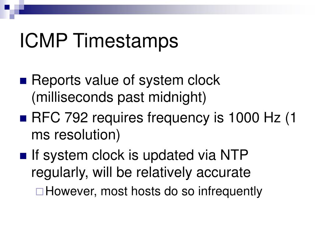 ICMP Timestamps