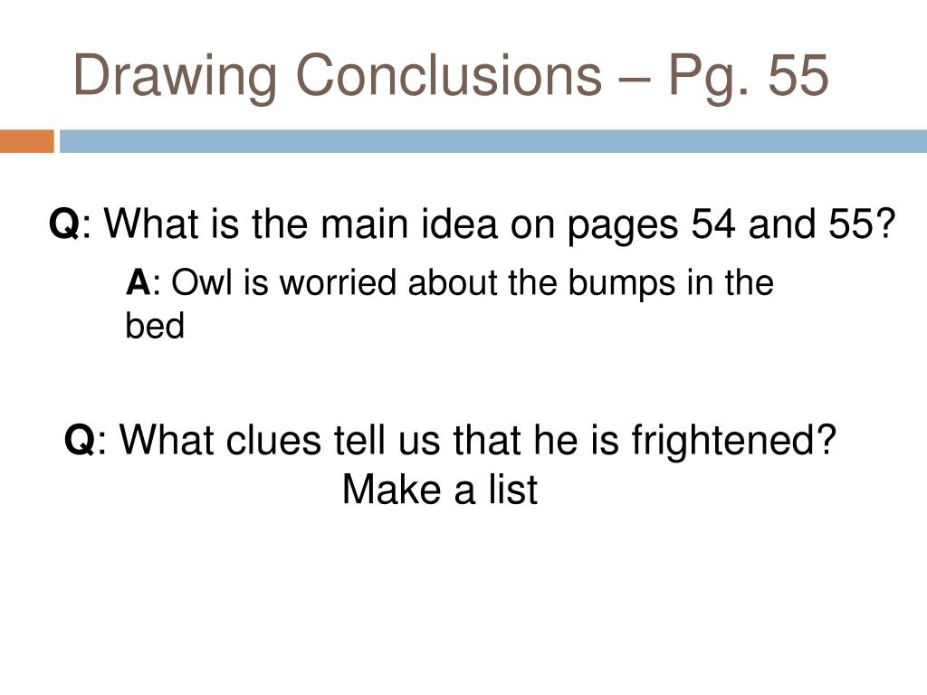 Drawing Conclusions – Pg. 55