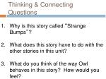 thinking connecting questions