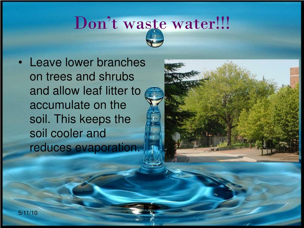Don't waste water!!!