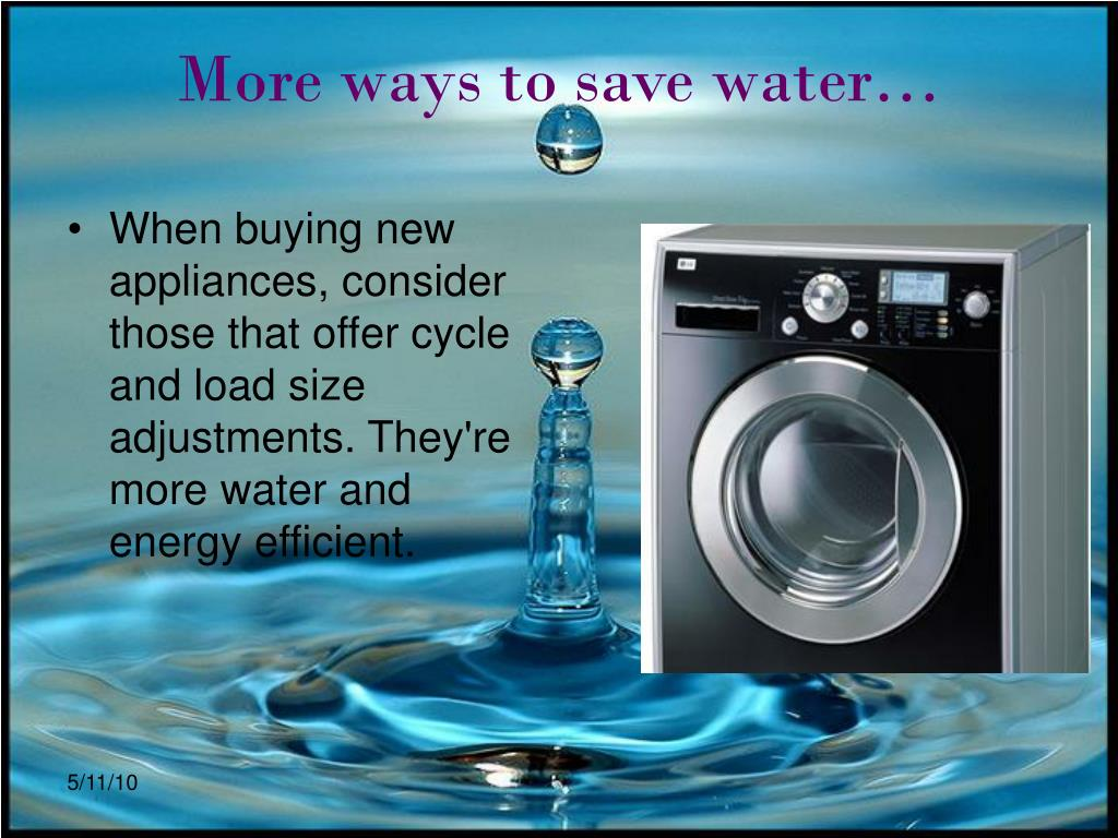 More ways to save water…