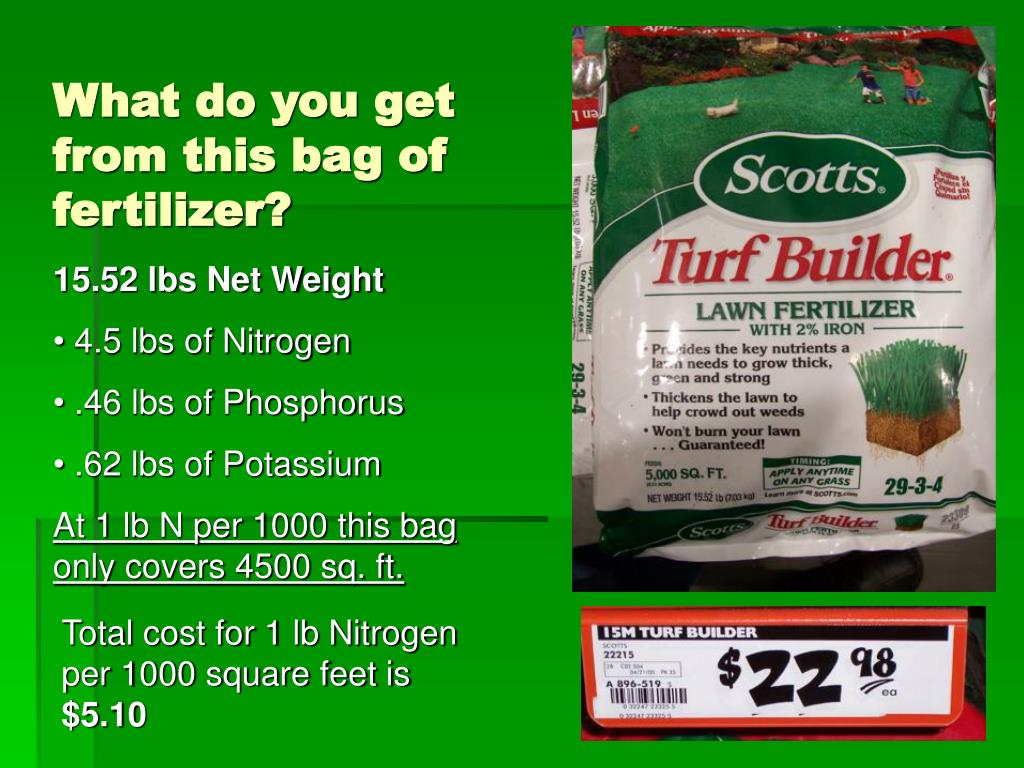 What do you get from this bag of fertilizer?