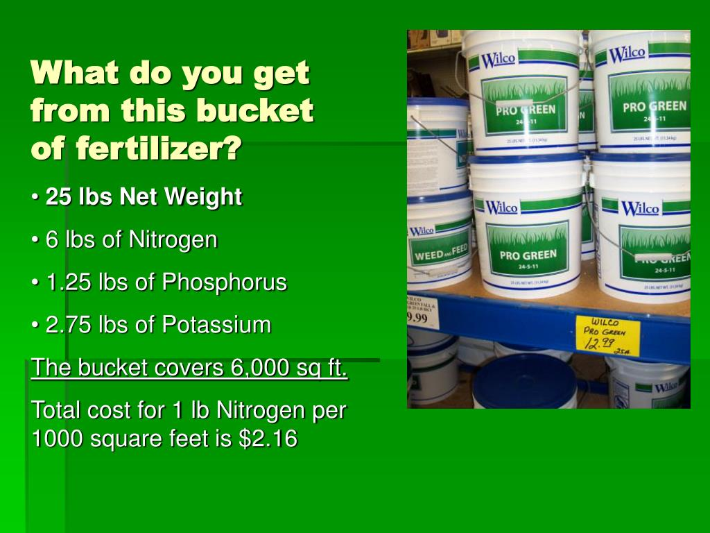 What do you get from this bucket of fertilizer?