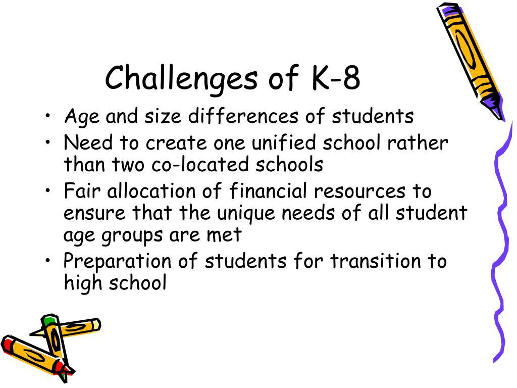 Challenges of K-8