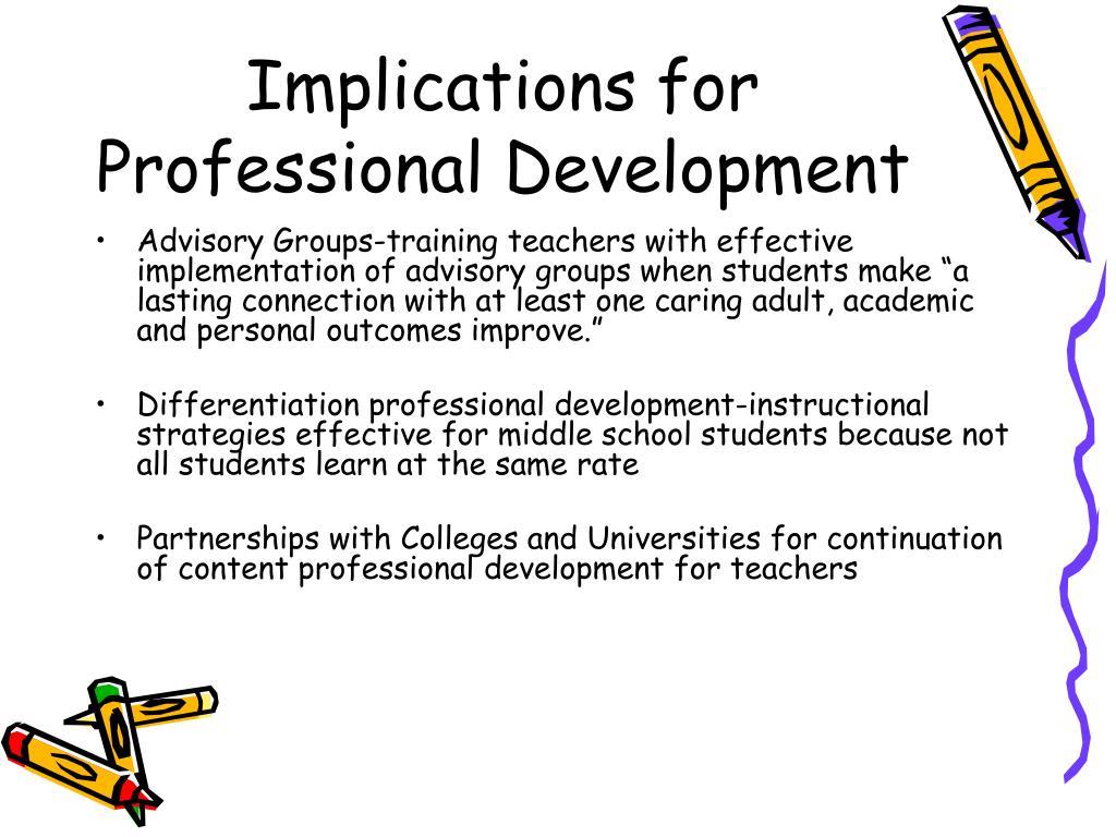 Implications for Professional Development