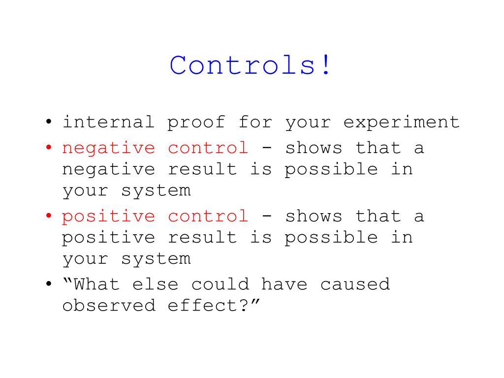 Controls!
