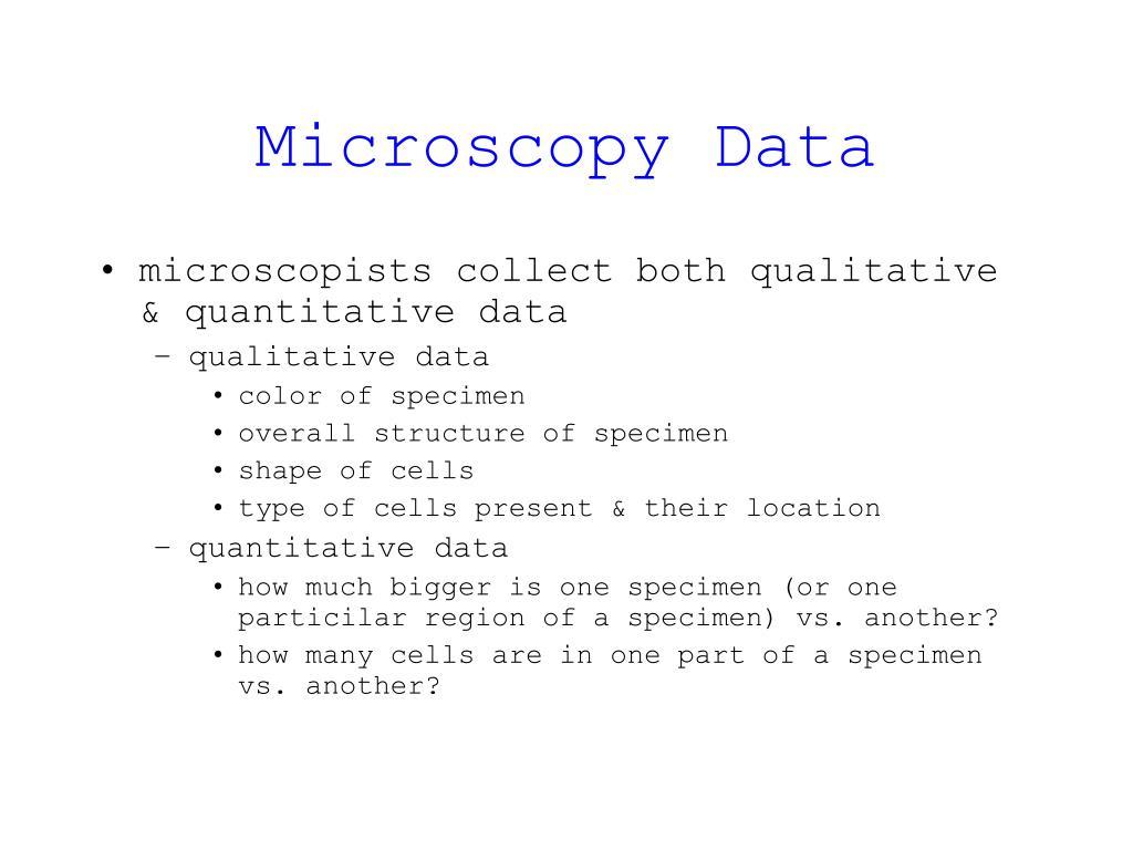Microscopy Data
