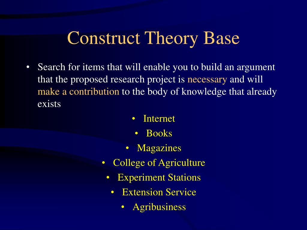 Construct Theory Base